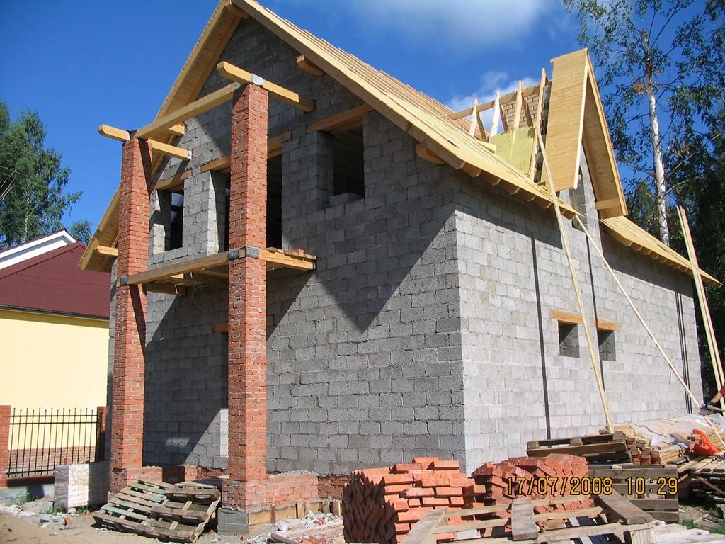 Строим дом из своими руками из керамзитобетонных блоков