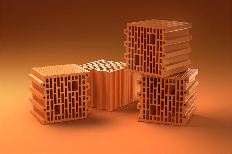 Керамические блоки PORIKAM 250ПГх260х219