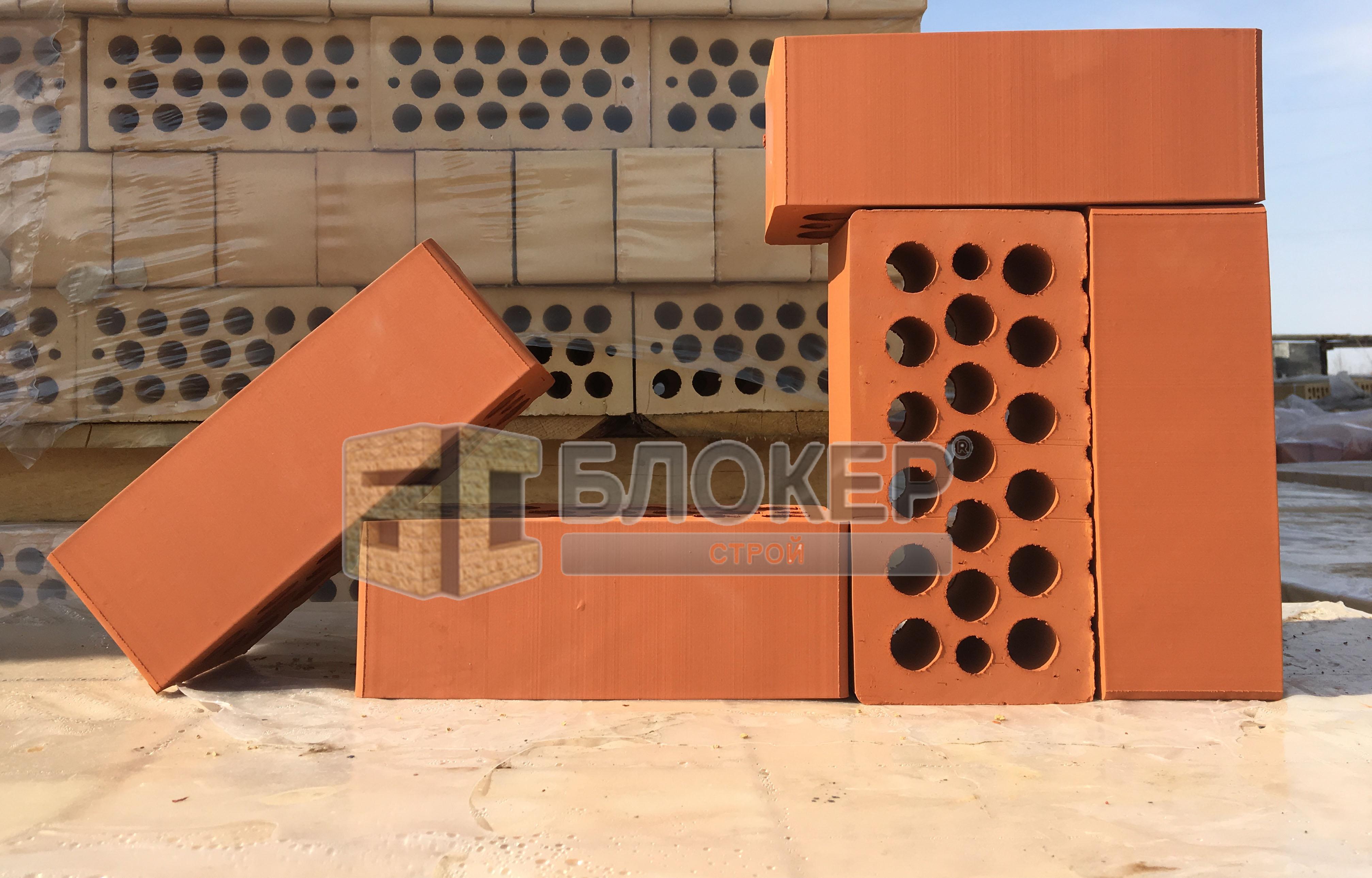 Облицовочный красный кирпич Меакир М-150