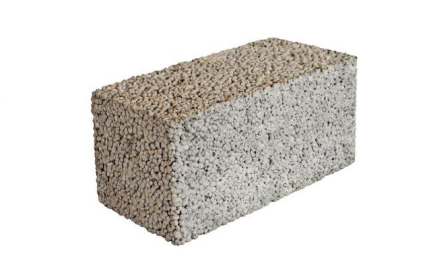 Блок керамзитовый полнотелый D1200