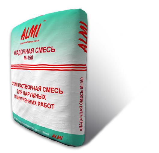Смесь «АЛМИ» М-150 цементно-песчаная 25кг