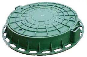 Люк полимерный легкий зеленый D
